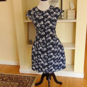 GAP Floral Fitted Mini Dress